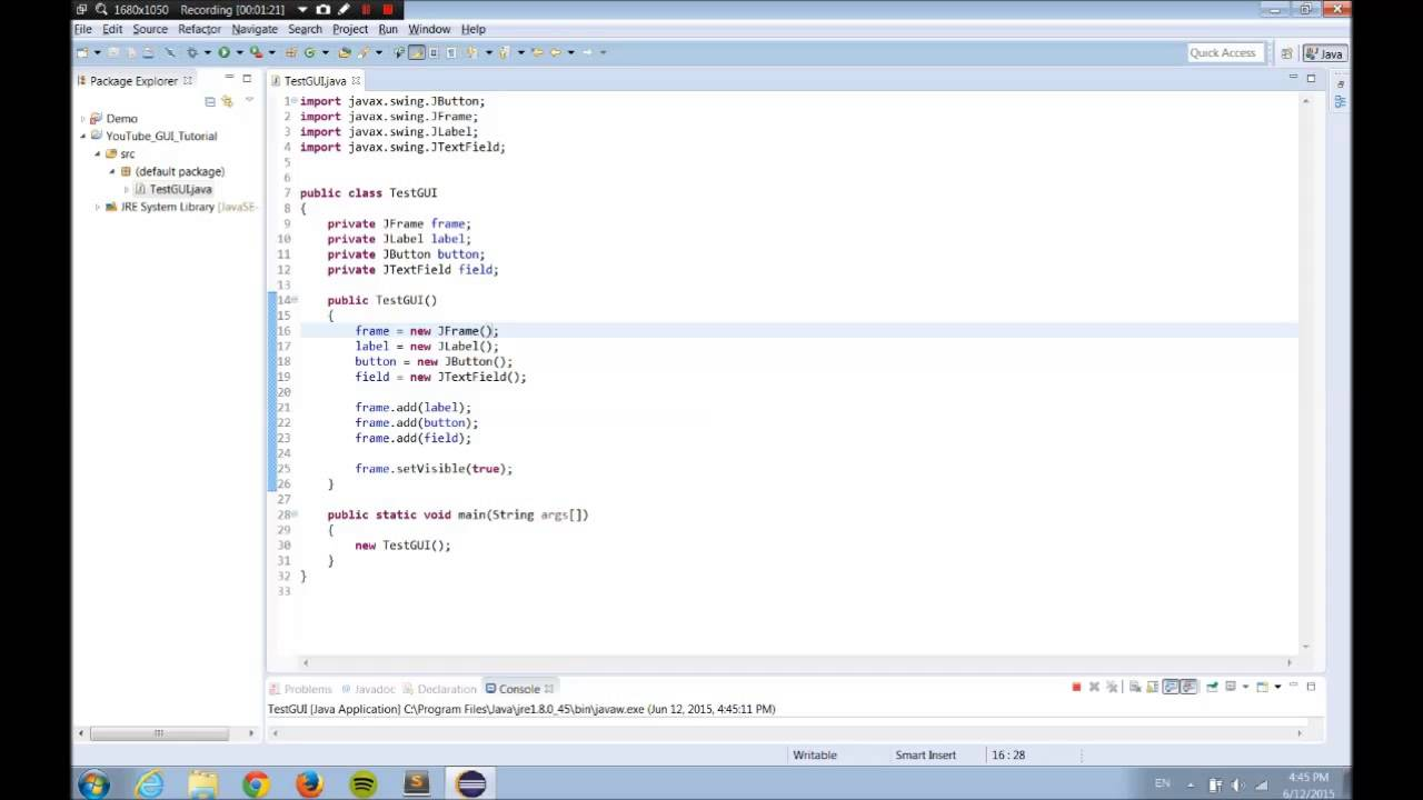 Introduction to java gui programming part 1 youtube introduction to java gui programming part 1 baditri Choice Image