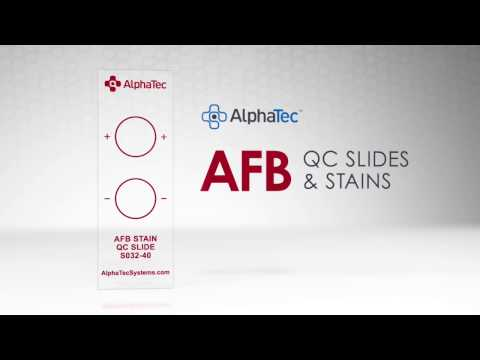 AFB Quality Control Slides for reduced risk of hazardous exposure
