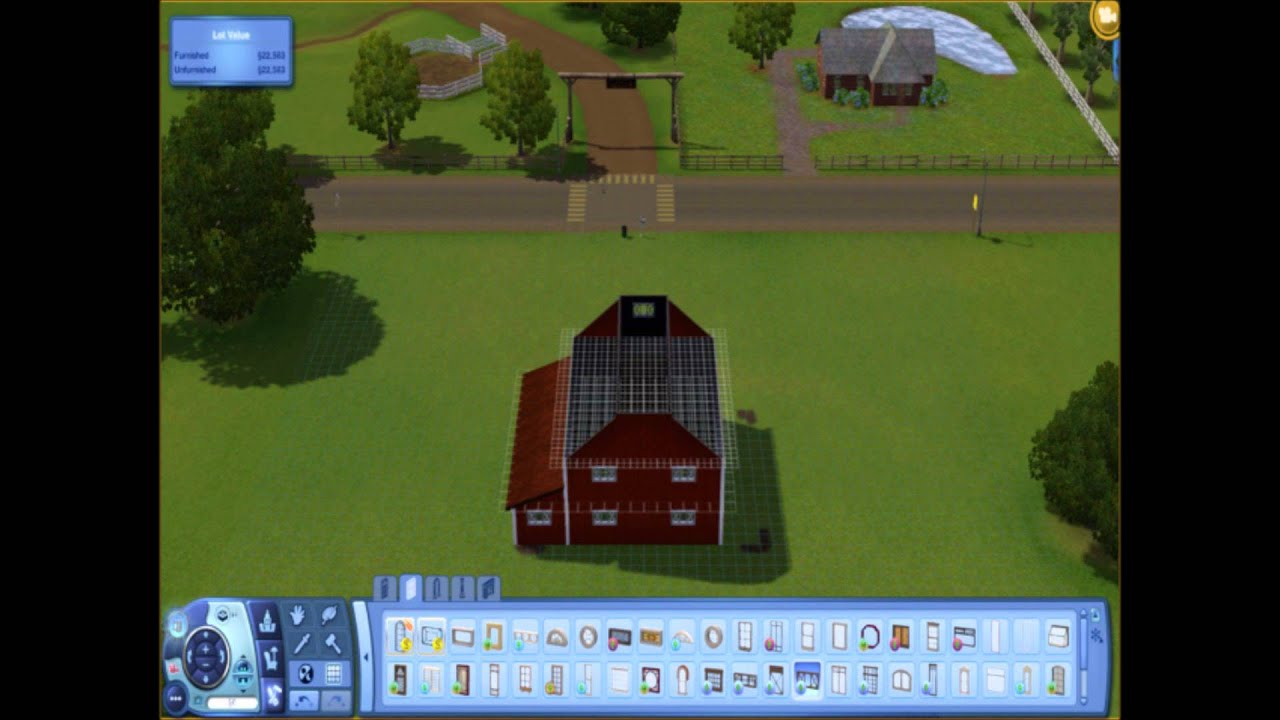 The Sims 3 How To Build A Barn Youtube