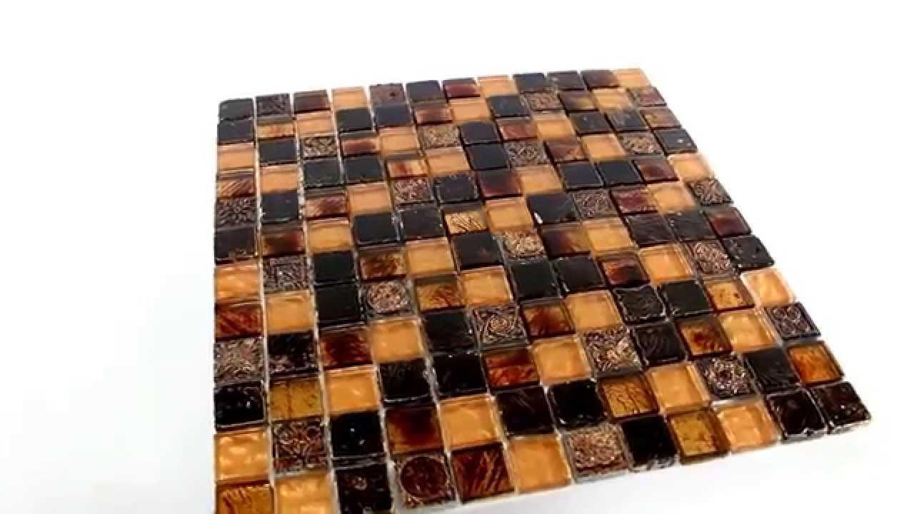Glas Kalkstein Marmor Mosaik Fliesen Gold Braun YouTube - Mosaik fliesen braun gold
