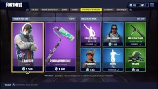 NEW SKIN TAGUEUR / PIOCHE ROULEAU REBELLE FORTNITE BATTLE ROYALE