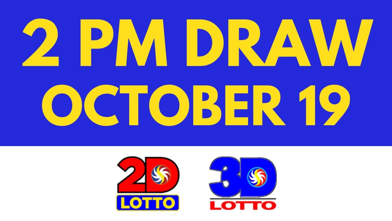 2pm Lotto Result Today Oct 19 2021 [Swertres Ez2]
