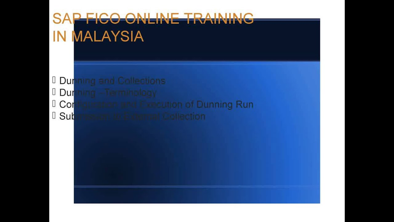 SAP FICO ONLINE TRAINING IN MALAYSIA