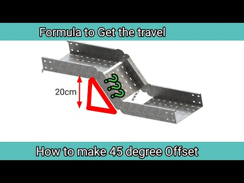 Easy step to make 45 degree offset cable tray/Pipe and Air duct
