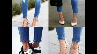 The QUICKEST and EASIEST DIY Raw Frayed Hem Jeans l Ty Kent