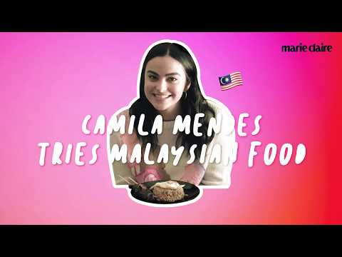 Marie Claire Exclusive Camila Mendes tries Malaysian food