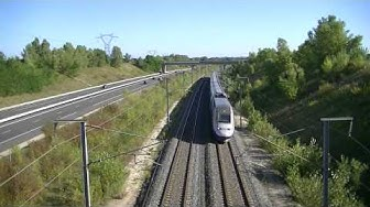 Trois trains TGV DUPLEX Roulent a 200 km/h voire plus que 200 km/h à Jons le dimanche 16/09/12
