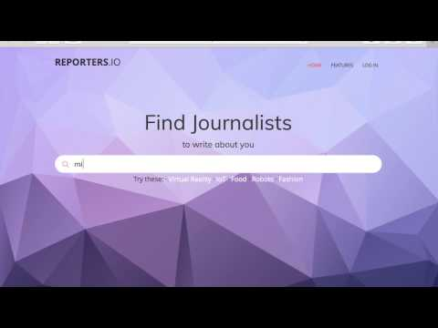 How to find relevant journalists with reporters.io