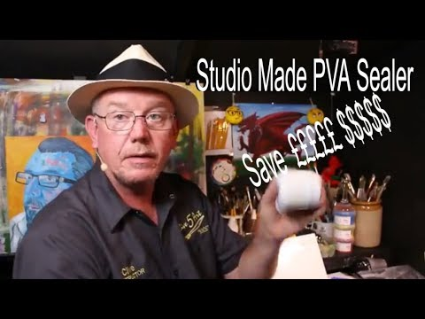 Make Your Own PVA Sealer' Acrylic painting