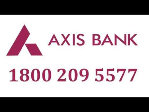 axis bank credit card statement toll free number