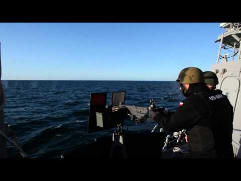 USS Jason Dunham Conducts Weapons Training with Polish Navy