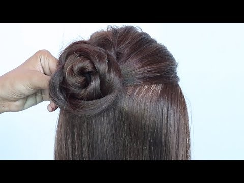 new braided juda hairstyle || cute hairstyles || easy updo || wedding hairstyles || hairstyle thumbnail