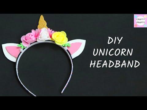 DIY Unicorn Headband   How to Make a Unicorn Headband/ ABSOLUTELY CUTE DIY YOU CAN MAKE IN 5 MINUTES
