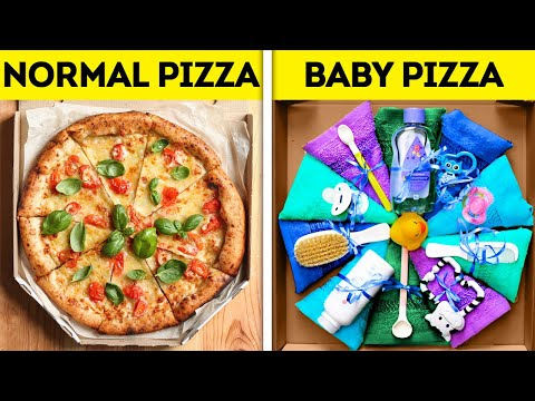 BABY PIZZA FOR BABY SHOWER || Gift Ideas For Pregnant And Pregnancy Tricks
