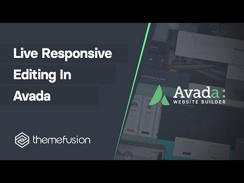 Live Responsive Editing in Avada Video