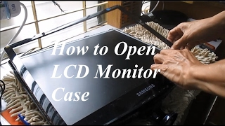 How to open Case Repair Samsung LCD LED Monitor Display Problem Part 1