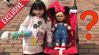 Guess where my Chucky Doll travels to next? DISNEYLAND!