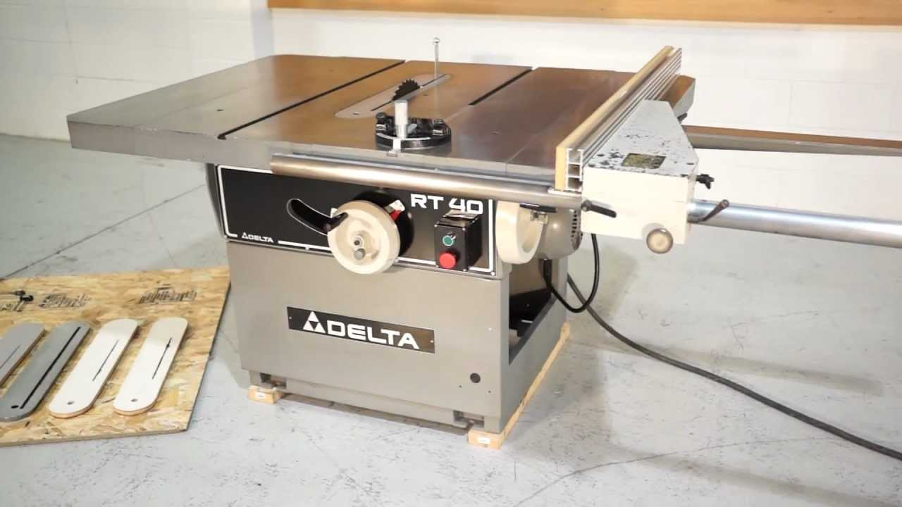Delta Invicta Rt 40 14 Tilting Arbor Table Saw Youtube