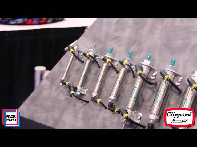 Pack Expo 2013: Clippard's Pneumatic Cylinder Line