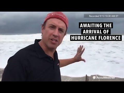 AccuWeather's Reed Timmer & Jonathan Petramala await landfall of Hurricane Florence