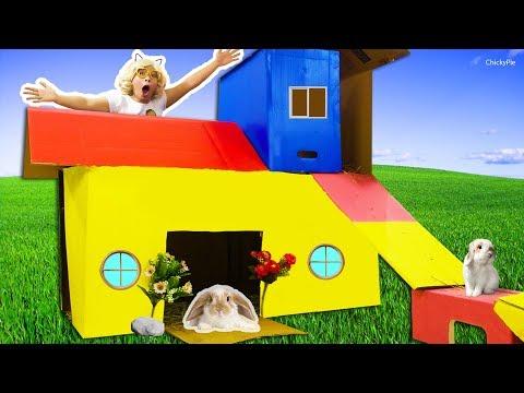 สร้างบ้านในฝัน 2 ชั้นให้กับกระต่าย