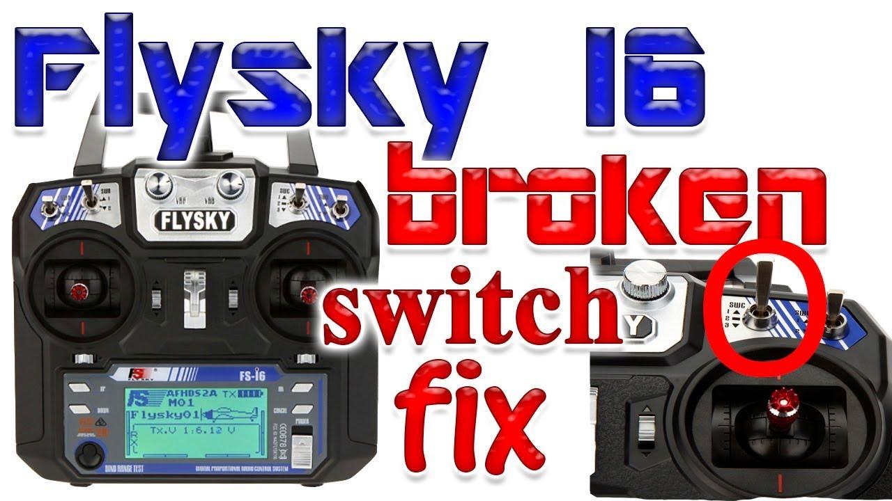 FlySky I6 Transmitter Broken Switch Fix | Switch Bypass