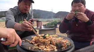 지글지글 [[대패삼겹살 (Grilled Thin Pork Belly)]] 볶음밥까지~요리&먹방!! - Mukbang eating show