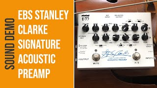 EBS Stanley Clarke Signature Acoustic Preamp - Sound Demo (no talking)
