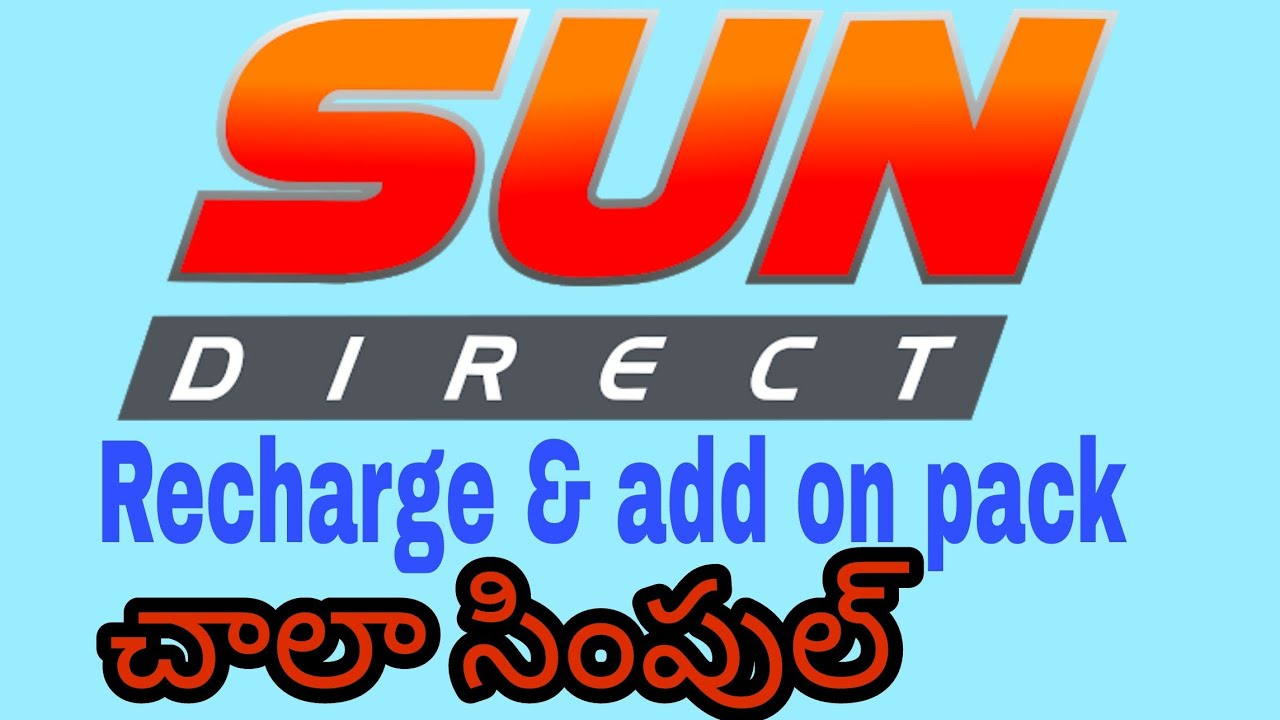 sun direct recharge and add on packages app expand in telugu