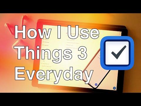 iPad Productivity: How I Use Things 3 Everyday