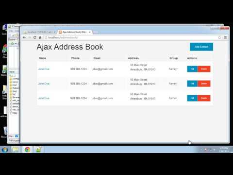 Learn How to Create an Address Book Using PHP and MySQL - Part 3