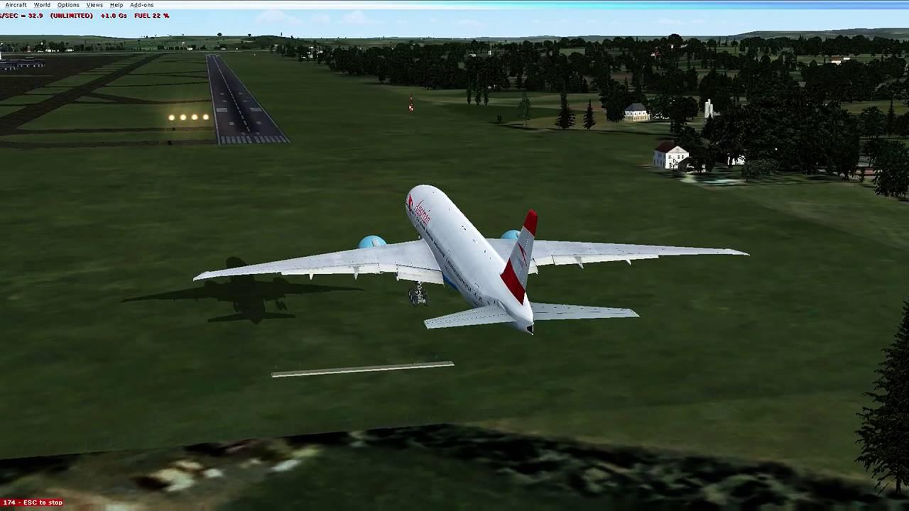 Austrian Airlines EGLL LOWW Landing PMDG 777-200 | FSX by Francois Goulds