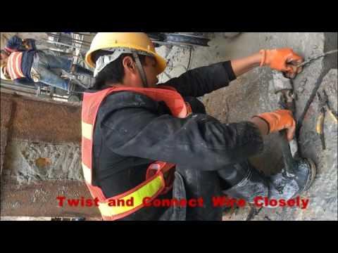 Concrete Wire Cutting Machine / Concrete Cutting Operation ...