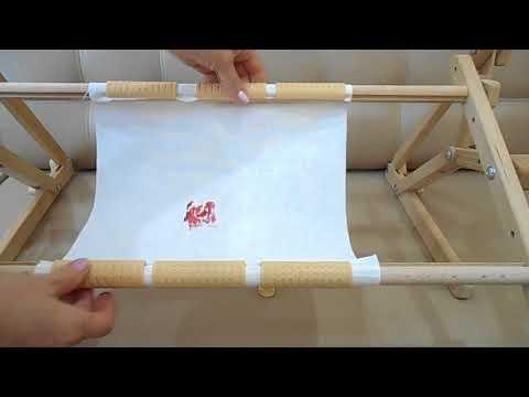 Как закрепить канву на станке для вышивания