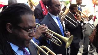 Second Line Parade in Memory of Trumpeter Abram Wilson