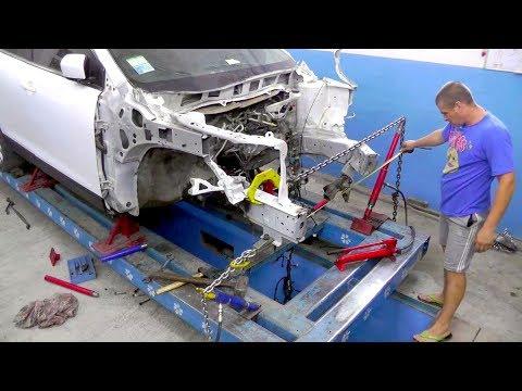 Mazda CX-9.  Построение осевой линии. Вытяжка лонжеронов.