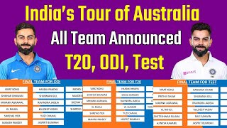 Team India Full Squad for Australia Tour 2020 | IND vs AUS | Rohit Sharma, Varun Chakravarthy, Siraj