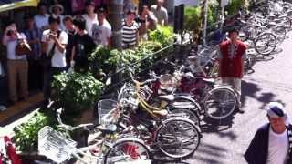 彌榮神社 夏祭り 舟橋町鶴橋駅前 だんじり屋根からの様子
