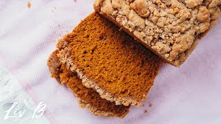Vegan Pumpkin Loaf with Streusel Topping