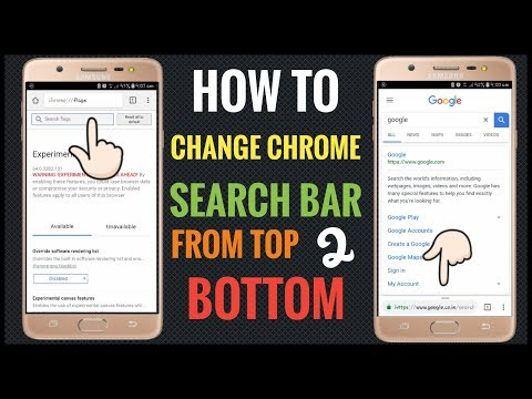 How to Change Chrome Search Bar From Top to Bottom