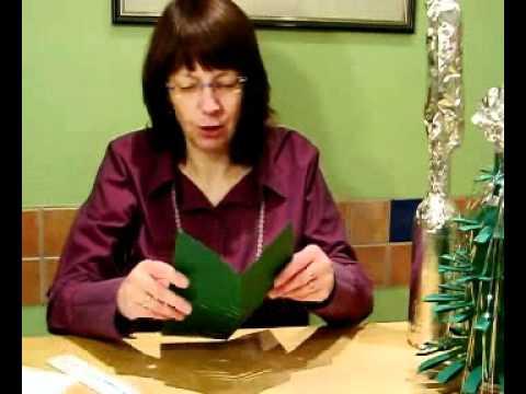 geschenkverpackung f r flaschen in form eines tannenbaumes. Black Bedroom Furniture Sets. Home Design Ideas