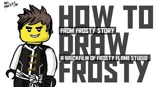 How to Draw Frosty ? - From Frosty Story. Brickfilms of Frosty Flame Studio !