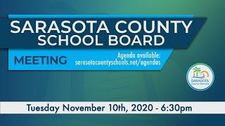 Sarasota County Schools Board Meeting 11 10 2020