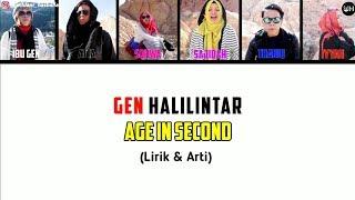 Age In Second Lirik - Gen Halilintar (Terbaru 2020) | Gen Halilintar Song Lirik