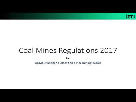 Coal Mine Regulation 2017