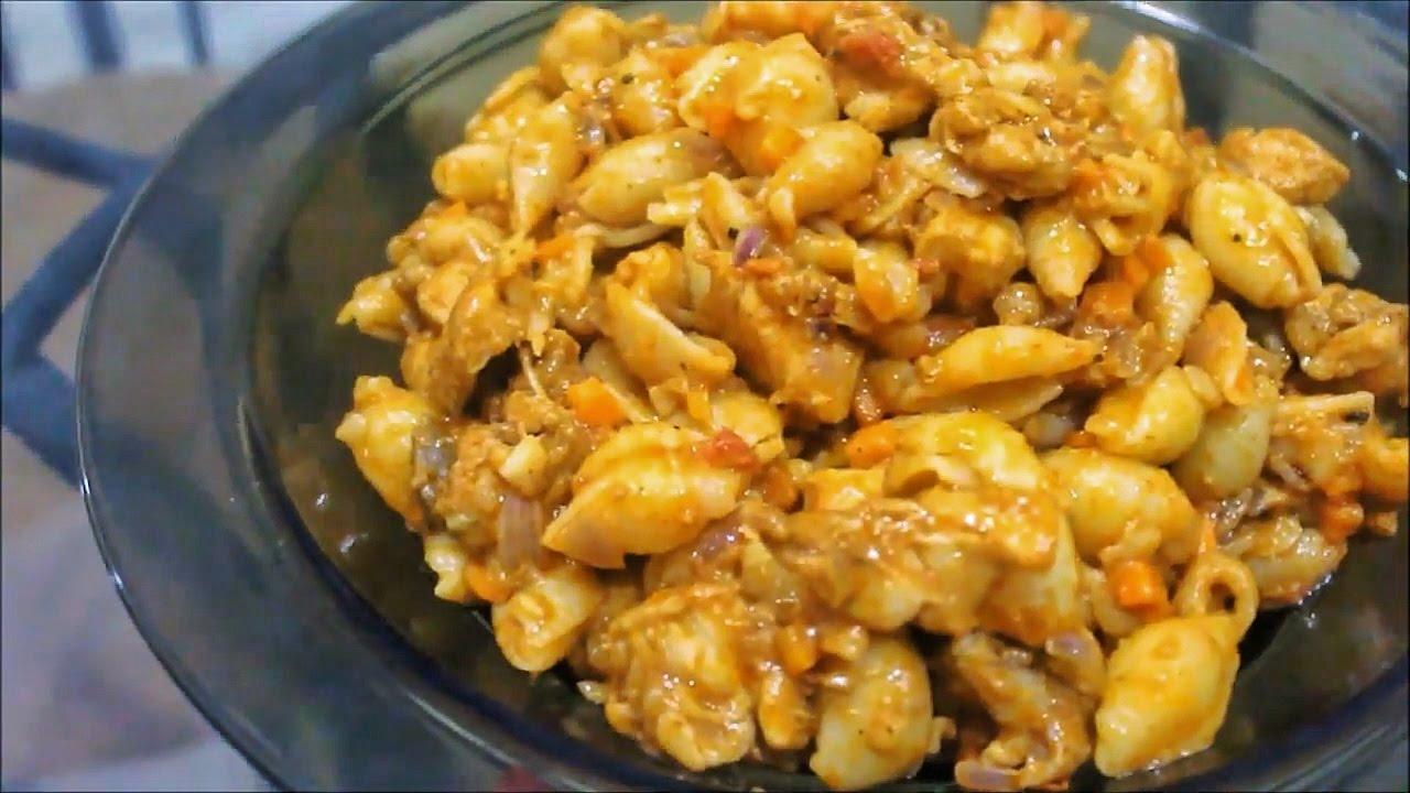 Sri Lankan Spicy Chicken Curry Pasta Recipe