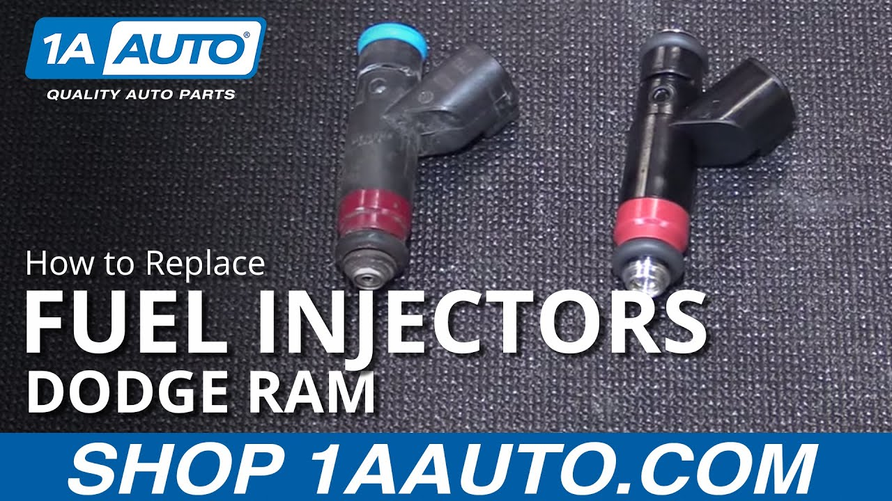 hight resolution of how to install replace fuel injectors 2004 08 dodge ram 5 7l buy quality auto parts at 1aauto com youtube