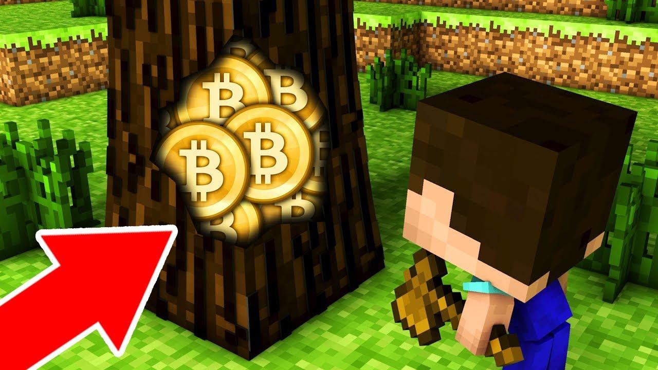 НУБ НАШЕЛ БИТКОИНЫ ВНУТРИ ДЕРЕВА В МАЙНКРАФТ! КРИПТО ДОЛИНА bitcoin minecraft троллинг нуба Мультик
