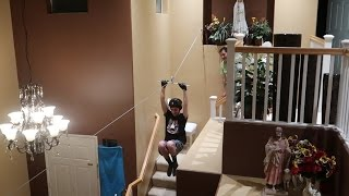 CRAZY INDOOR ZIPLINE!! | Vlogs | FaZe Rug