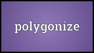 Polygonize Meaning